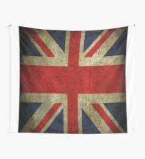 Antique Faded Union Jack UK British Flag Wall Tapestry
