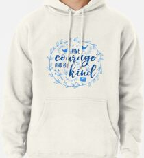 Have Courage and Be Kind Typography Cobalt Blue Pullover Hoodie