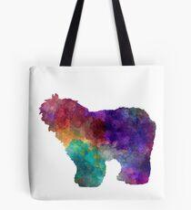 Old English Sheepdog Bobtail in watercolor Tote Bag
