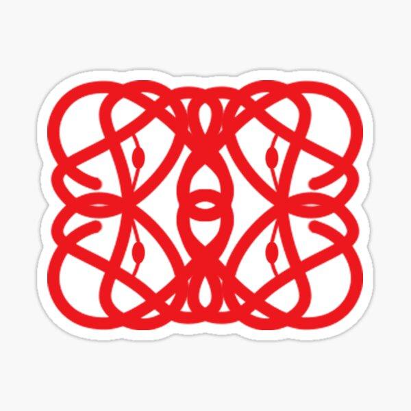 Stylized Hemoglobin - Red Sticker