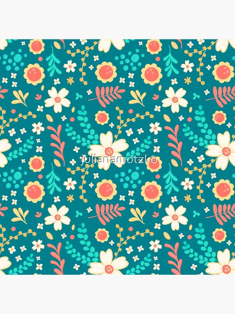Sweet Floral Pattern by julianamotzko
