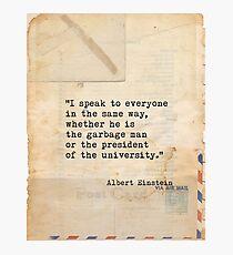Albert Einstein quote X Photographic Print