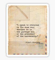 Albert Einstein quote X Sticker