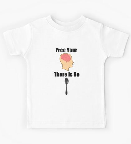 Free Your Mind Black Text (Clothing & Sticker ) Kids Clothes