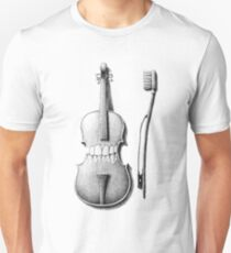 brushing the violin Unisex T-Shirt