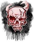 Red Demon Skull by HelenArt