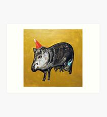 Javelinas with Party Hats Art Print