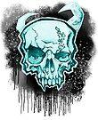 Blue Demon Skull by HelenArt