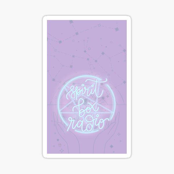 Spirit Box Radio Logo in Mystic Pastels  Sticker