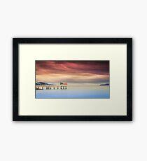 End Of The Pier Framed Print