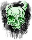 Green Demon Skull by HelenArt
