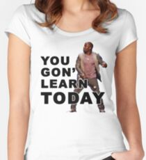 You Gon Learn Today - Kevin Hart Women's Fitted Scoop T-Shirt