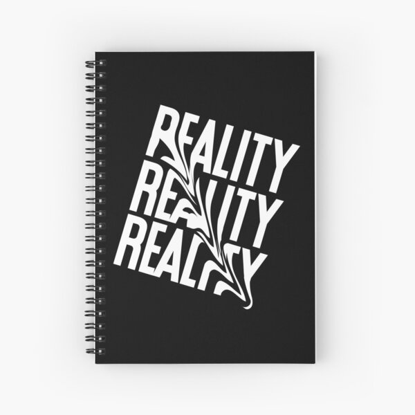 Reality Distorted Typography Spiral Notebook