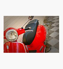 Moped Photographic Print