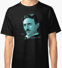 Nikola Tesla Portrait Science Electrical Classic T-Shirt
