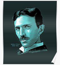Nikola Tesla Portrait Science Electrical Poster