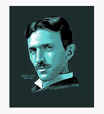 Nikola Tesla Portrait Science Electrical Photographic Print