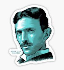Nikola Tesla Portrait Science Electrical Sticker
