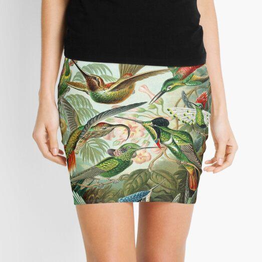 birds vintage cool design Mini Skirt