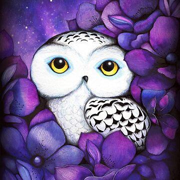 Snowy Owl by ClearJadeStudio