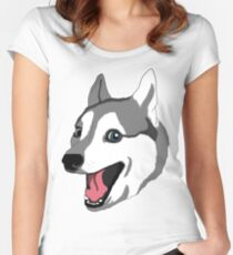 Happy Husky Women's Fitted Scoop T-Shirt