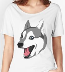Happy Husky Women's Relaxed Fit T-Shirt
