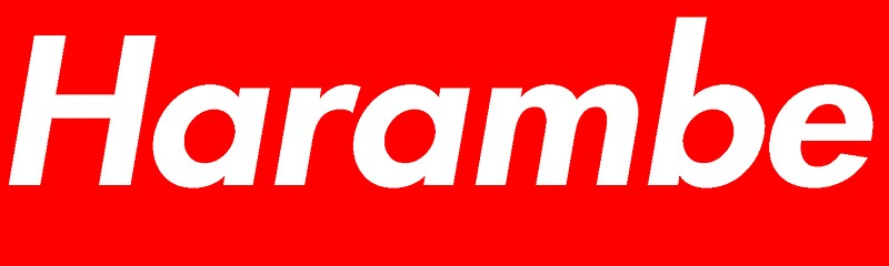 Quot Harambe Supreme Box Logo Best Quot Stickers By Ghostjet