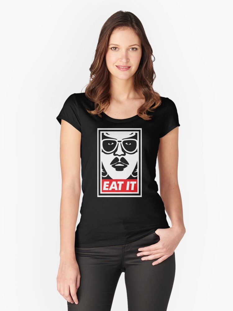 Eat It Women's Fitted Scoop T-Shirt Front