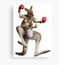 kangourou boxe Canvas Print