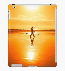 lone fisherman fishing on the Kerry beach iPad Case/Skin