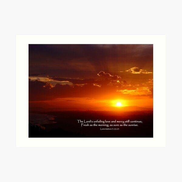 Lamentations 3:22-23 Art Print