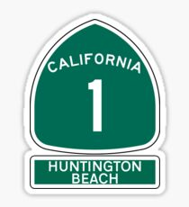 PACIFIC COAST HIGHWAY HUNTINGTON BEACH CALIFORNIA ROUTE 1 Sticker