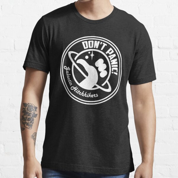 Galactic Hitchhikers Classic White Logo Essential T-Shirt