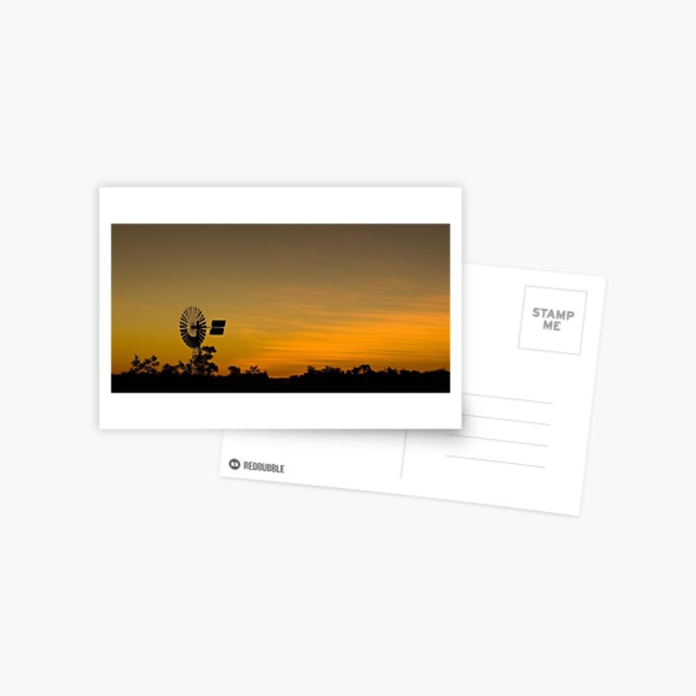 Outback Sunset Postcard