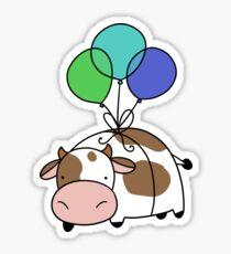 Balloon Cow Sticker