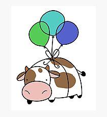 Balloon Cow Photographic Print