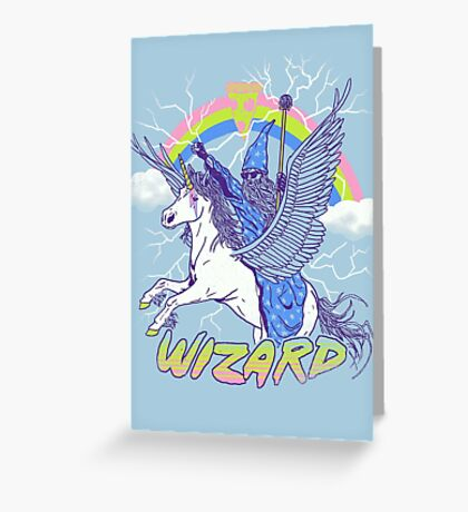 Pizza Wizard Greeting Card