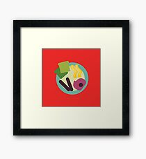 Crazy Breakfast Framed Print