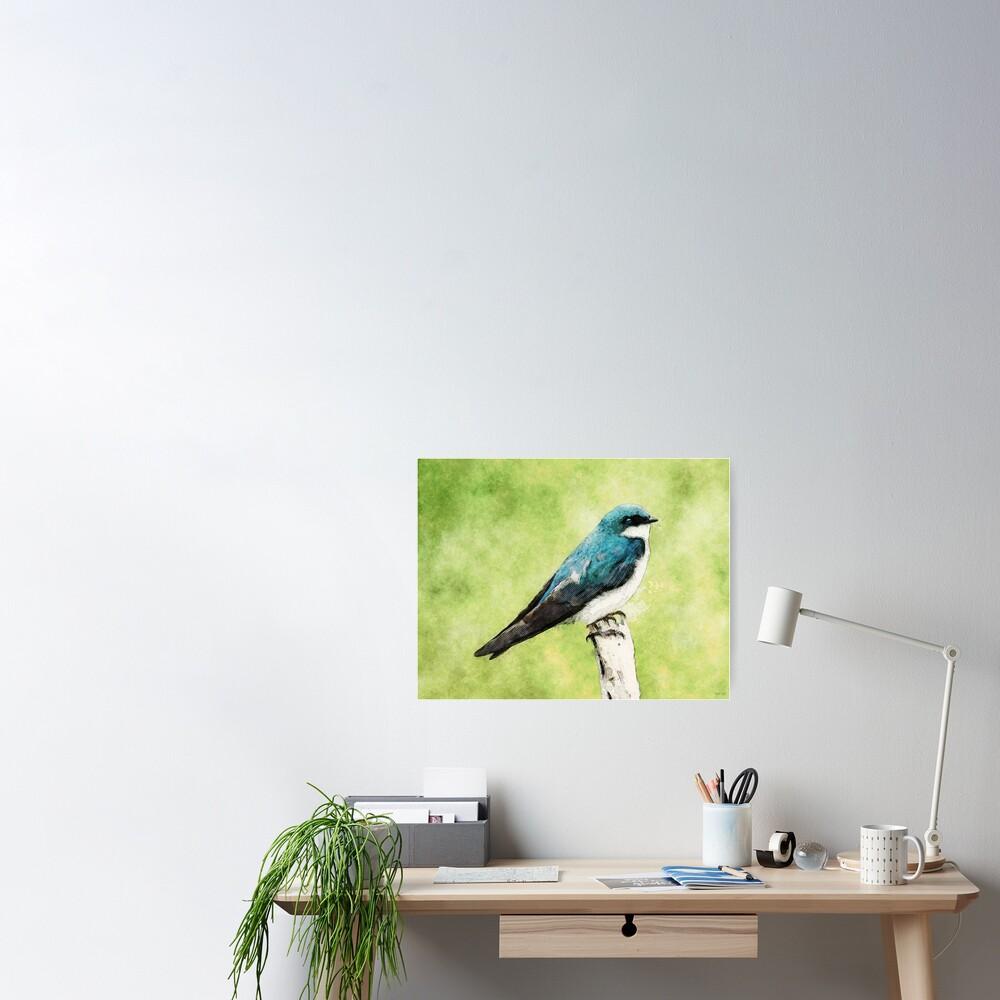 Blue Bird Poster