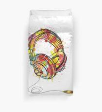 Watercolor Headphones Duvet Cover