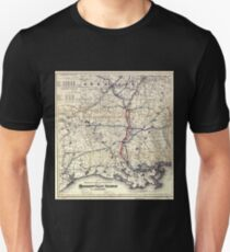 0308 Railroad Maps Map showing the route and connections of the Mississippi Valley Railroad of Louisiana E Baldwin chief T-Shirt