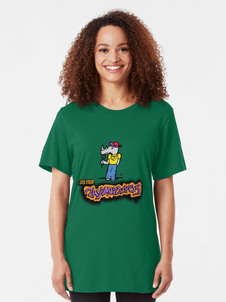 Vista alternativa de Camiseta ajustada El vuelo de los conchords - The Rhymnoceros
