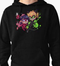 Chibi Time! Ladybug & Cat Noir Pullover Hoodie