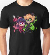 Camiseta unisex Tiempo de Chibi! Ladybug & Cat Noir