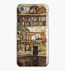 Egon Schiele - House Wall on the River (1915)  iPhone Case/Skin