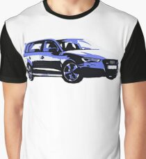 Awesome AUDI RS3 S3 VAG VW JDM - Street Car sports hatchback art Graffiti Popart  warhol Graphic T-Shirt