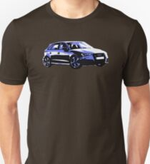 Awesome AUDI RS3 S3 VAG VW JDM - Street Car sports hatchback art Graffiti Popart  warhol T-Shirt