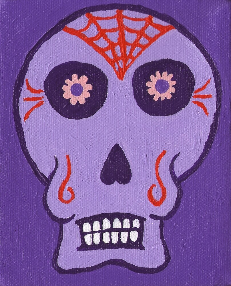 Day of the Dead in Purple by Nytespryte