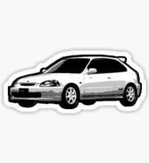 Awesome HONDA CIVIC TYPE R ek9 integra prelude VW JDM - Street Car sports hatchback art Graffiti Popart  warhol Sticker