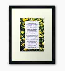 "Wordsworth's ""Daffodils"", especially good as a card. Framed Print"